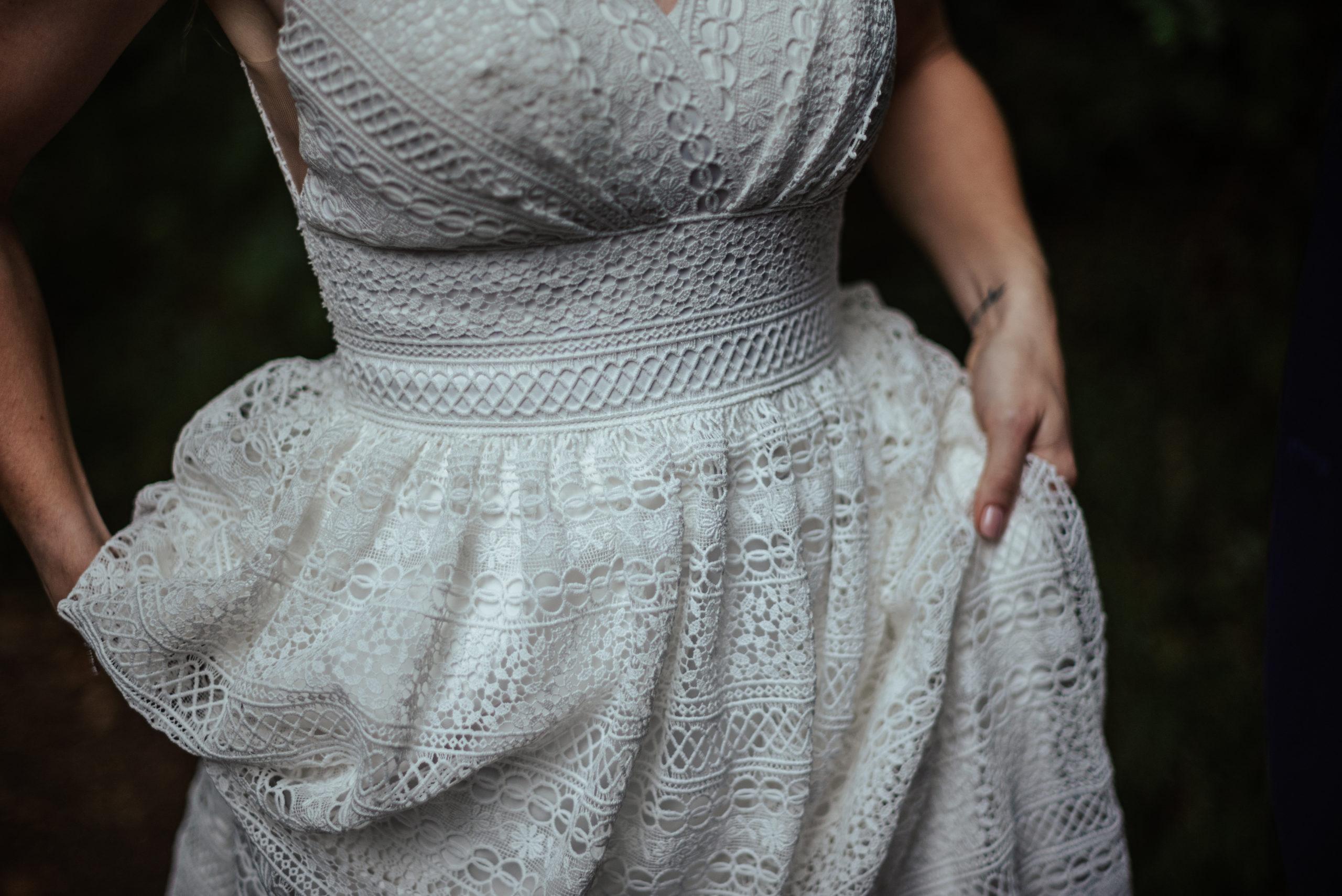 détail robe mariée cindy first look